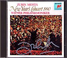 Zubin MEHTA Signiert 1990 Neujahrskonzert aus Wien New Year's Concert Vienna CD