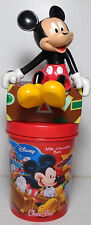 DISNEY 8.5'' MICKEY MOUSE PVC FIGURE ON CHOCO TIME GREEK CUP BROKEN NOSE RARE