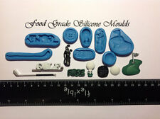 8 GOLF Themed Food Grade Silicone Moulds