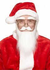 High quality Angry Santa white false, self adhesive beard, mustache and eyebrows