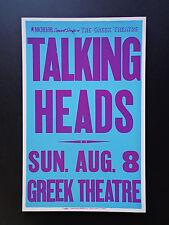 Talking Heads At The Greek - Original Vintage Rock Concert Promo Poster