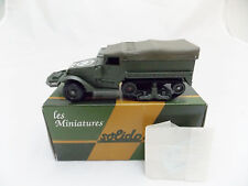Miniature Collection Métal Tank SOLIDO Half Track M3 Baché France Wagram