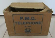 Postmaster-General's Department (PMG) Cardboard Box - AWA S1/401 Bakelite Phone