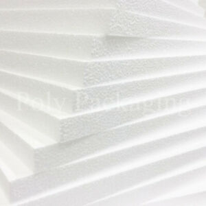 POLYSTYRENE FOAM EPS SHEETS *Any Size/Qty* Expanded Packing Insulation Poly Foam