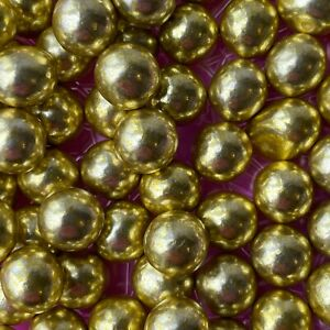Edible GOLD Chocolate Balls Cake Toppers Decorations 10mm Cupcake Sprinkles