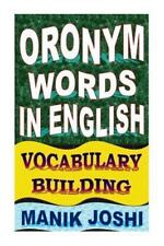 English Word Power: Oronym Words in English: Vocabulary Building by Manik...