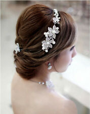 Bridal Hair Accessories wedding hairband Clip-in Pearls flower headpiece tiara
