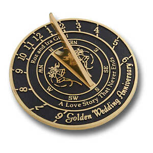 Customised Text Wedding Anniversary Sundial Gift Idea Is A Great Present