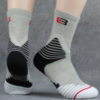 3 Pairs Men's Sport Socks Crew Skating Basketball Ankle Sock Casual Socks 7-12