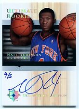 2005-06 Ultimate NATE ROBINSON Auto RC Rare Redemption Platinum SP Jersey #4 /5