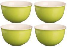 Price & Kensington Set of 4 Bright Coloured Green Cereal bowls Soup bowls