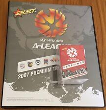 2007 Select A-LEAGUE Soccer FOOTBALL Full Base Set WITH FOLDER ALBUM 130 CARDS