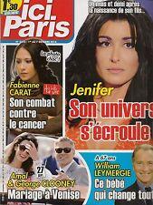 ICI PARIS N° 3613--JENIFER/FABIENNE CARAT CANCERT/AMAL & CLOONEY/LEYMERGIE
