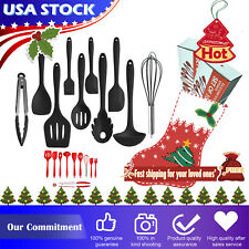 10pcs Premium Silicone Cooking Kitchen Utensil Set Serving Tools Heat Resistant
