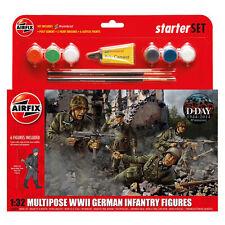 AIRFIX MULTIPOSE Seconda Guerra Mondiale Fanteria tedesca (scala 1:32) Starter Set NUOVO