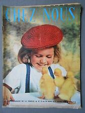 ►CHEZ NOUS N°13/1964 - DANY SAVAL - POUPEE FOLKLORIQUE