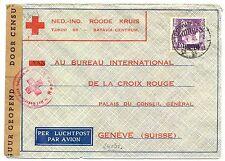 NED INDIE DUTCH INDIES 1941-1-21  RED CROSS-CENSOR PM-BATAVIA-FROM=SOERABAJA=