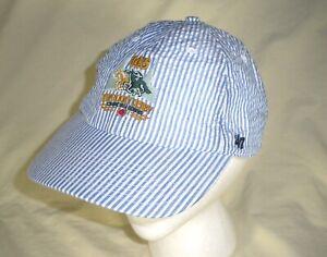 145th Kentucky Derby Hat / Cap 47 BRAND, Blue Stripe, One Size Adjust, EUC