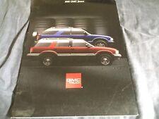 1995 GMC S15 Jimmy SUV Original Brochure Catalog Prospekt