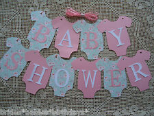 10 Bunting Flags Banners Garland Baby Shower Pink MINT Green DIY Girl