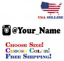 "INSTAGRAM your user name handle Vinyl Decal Sticker 8"" Car username custom JDM"