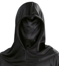 Halloween Black Phantom of Darkness Grim Reaper Executioner Hooded Costume Mask