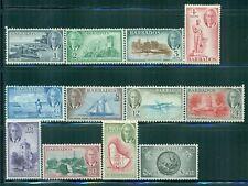 BARBADOS 216-27 SG271-82 MH 1950 KGVI set of 12 Cat$73