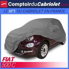 Housse Coverlux sur-mesure Jersey gris souris pour cabriolet Fiat 500C