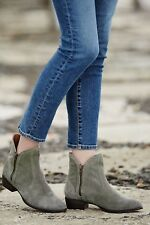 ANTHROPOLOGIE LUCKY PENNY BOOTIES GRAY SUEDE ANKLE BOOT NEW 7.5 SEYCHELLES SHOES