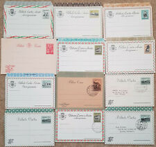 Angola Portugal Colonies x12 postal stationery airletters/sheets mint+used 1950s