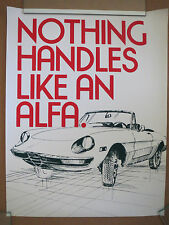 "Alfa Romeo Dealer Poster ""Nothing Drives Like An Alfa"" -Circa Early 70's-"