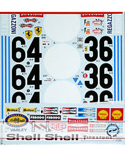 STUDIO27 FERRARI 312B2 TRANS DECAL for TAMIYA 1/12 312B 1971 ICKX ANDRETTI