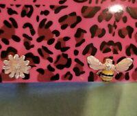 Betsey Johnson Enamel Lady Cute Flower Bee Honey Women Stand Earrings
