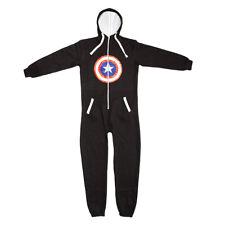 Viper Onesie1Full Length Fleece Hooded All in One Jump Suit Captain America