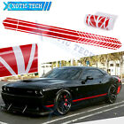 2pc Auto Glossy Red Side Body Fender Sticker For Dodge Challenger Charger 2000