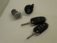 Audi A4 B7 3 Button Keys Ignition Barrel Door Lock Set