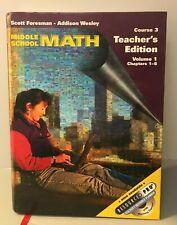 New ListingMiddle School Math Texas Teachers Edition Course 3 Volume1 Free Shipping