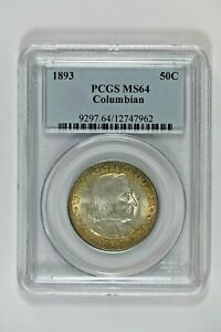 1893 PCGS MS64 Columbian Expo Classic Silver Commem Half Dollar with Nice Toning