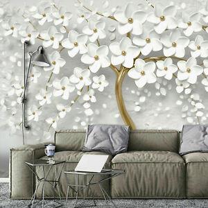 BAUM ABSTRAKT BLUMEN Vlies Fototapete 3D EFFEKT Wohnzimmer TAPETE XXL 368x254
