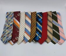 10 TIE MIXED LOT Men's VTG Wide Woven Silk Brioni Etc Colorful Snazzy Retro USED
