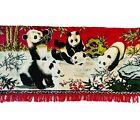 Velveteen Tapestry Swan Brand Oriental Pandas Wall Restaurant Hanging Free🚚