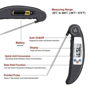 LCD Digital Food Thermometer Probe Temperature Kitchen Cooking BBQ Meat Turkey
