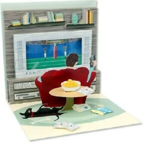 """Up With Paper  -  """"Couch Potato""""  -  3D Pop-up  Birthday Card"""