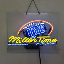 Neon Signs Gift Miller Lite Time Beer Bar Pub Party Store Room Wall Decor 19x15