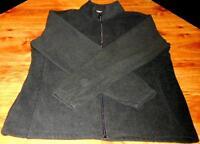 Starter Men's Black Fleece W/Pockets Full Zip Medium 38-40  Super Fast Shipping