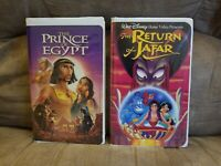Lot of 2 vhs movies:The Return of Jafar (VHS, 1994) and The Prince Of Egypt