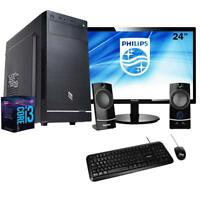 "Pc desktop intel i3 8100,Ram 8 Gb Ddr4, Hdd 1 tb , Ssd 120 Gb + Monitor 24"""