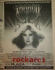 """OLIVIA NEWTON-JOHN Xanadu 1980 UK Poster size Press ADVERT 10x8"""""""