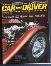 Car and Driver July 1961, MG, Ferrari, Austin-Healey Sprite II, Fiat Abarth 1000