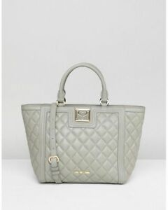 Love Moschino Quilted Tote Bag Grey RRP£225
